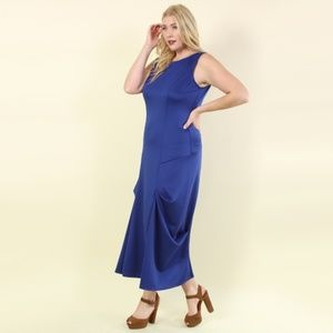 Plus Size Rumi Ruched Sides Maxi Dress